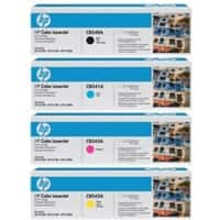 HP 125A Original Toner Cartridge Black & 3 Colours 4 Pieces