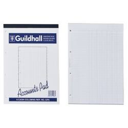 Guildhall Analysis Pads 6 Cash Columns On Each Page 298 x 210 mm