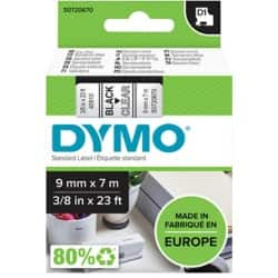 DYMO Labelling Tape 40910 9 mm x 7 m black / transparent
