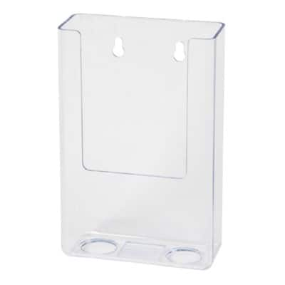 Deflecto Literature Holder Wall Mounted Brochure Holder Portrait DL Clear