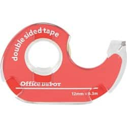 Office Depot Double Sided Tape 12 mm x 6.3 m Clear