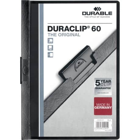 Durable Duraclip® 6 mm Folder – Black