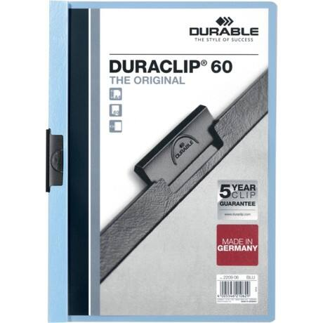 Durable Duraclip® 6 mm Folder – Blue
