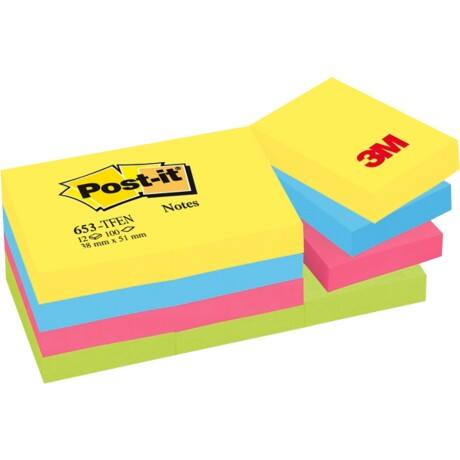 Post-it® Energy Colour Notes (38 mm x 51 mm) 12 pads per pack