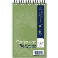 Cambridge Notebook 125 x 200 mm Ruled Green 160 Sheets Pack of 10
