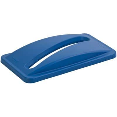 Rubbermaid Lid For Slim Jim Paper Blue