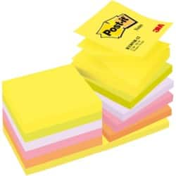 Post-it Z-Notes 76 x 76 mm Assorted 12 Pieces of 100 Sheets