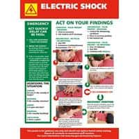Health & Safety Poster Electric Shock PVC