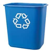 Rubbermaid Recycling Bin Blue 27 Litre Polyethylene 380 x 368 x 265 mm