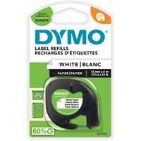 DYMO Labelling Tape 91200 12 mm x 4 m Black , White