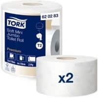 Tork Toilet Paper 620283 2 Ply 2 Rolls of 850 Sheets
