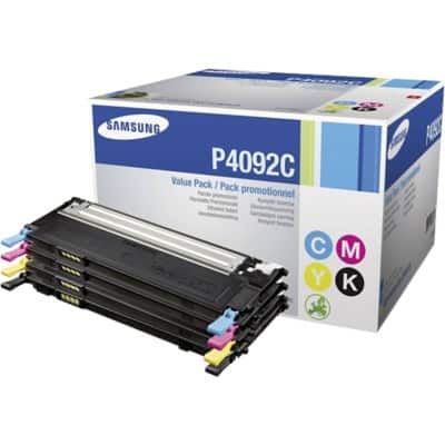 Samsung CLT-P4092C Original Toner Cartridge Black & 3 Colours 4 Pieces