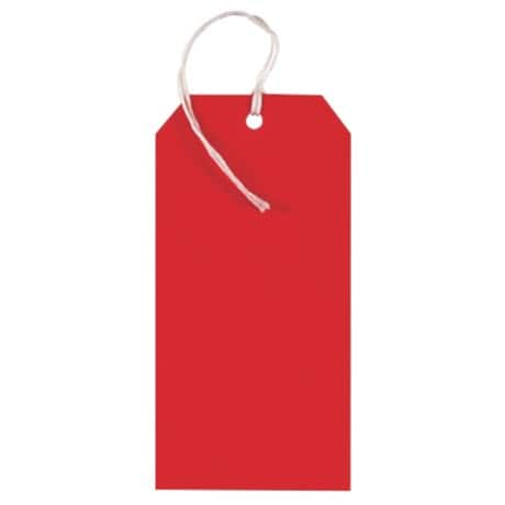 Coloured String Tags - Red