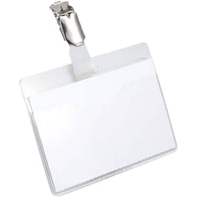 DURABLE Standard Name Badge with Clip 90 x 60 mm Pack of 25
