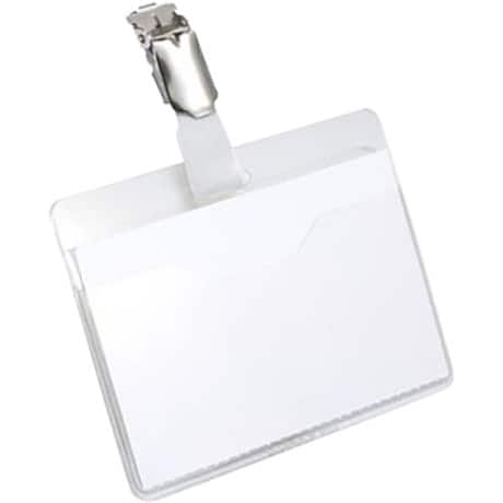 Durable Visitor Name Badges 60 x 90 mm - Clear