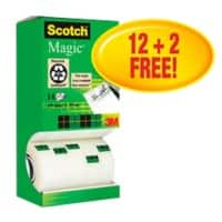 Scotch Tape Magic 19 mm x 33 m Transparent 14 Rolls