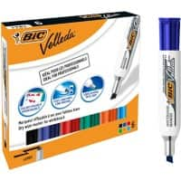 BIC Velleda 1781 Whiteboard Marker Broad Chisel Assorted Pack of 6
