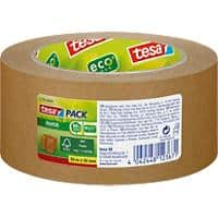 tesapack Eco Paper Packaging Tape 50 mm (W) x 50 m (L) Brown