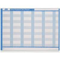 SASCO Year Planner Mounted Blue, White