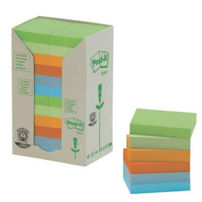 Post-it Sticky Notes Towers 38 x 51 mm Assorted 24 Pieces of 100 Sheets