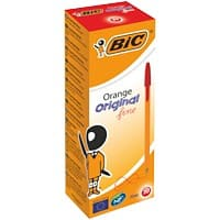 BIC Orange Original Fine Ballpoint Pen 0.3 mm Red Pack of 20