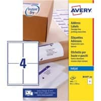 Avery J8169-100 Parcel Labels Self Adhesive 139 x 99.1 mm White 100 Sheets of 4 Labels
