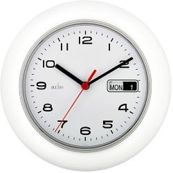 Acctim Quartz Office Wall Clock With Day & Date calendar 250 mm