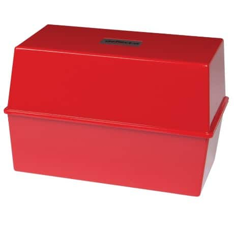 Card Index Box CP012VKRED 250 Cards Red 12.7 x 20.3 x 14.7 cm