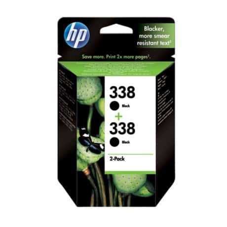 HP 338 Original Ink Cartridge CB331EE Black 2 pieces