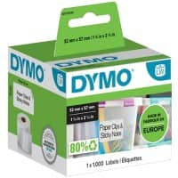 DYMO LW Multi-purpose Labels 11354 Black on White 32 mm x 57 mm 1000 Labels