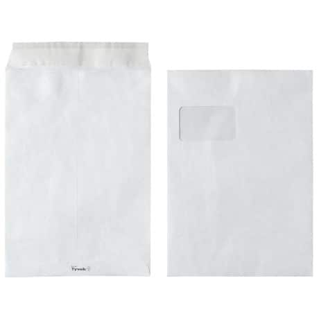 Tyvek Envelope c4 54gsm White window peel and seal 100 pieces