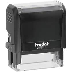 Trodat Custom Text Stamp 4913 Black 58 x 20 mm