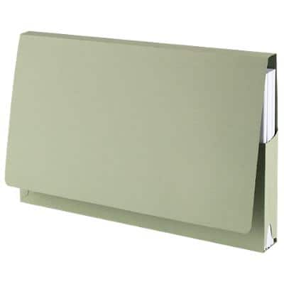 Guildhall Document Wallets PW2-GRNZ Foolscap Green Manila 35.5 x 23 cm 50 Pieces