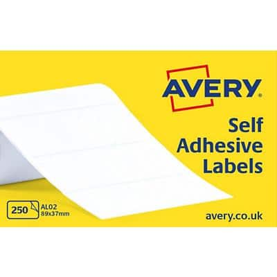 AVERY Address Labels AL02 White Self Adhesive 89 x 37 mm 1 Roll of 250 Labels
