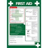 Health & Safety Poster First Aid PVC