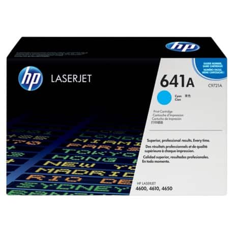 HP 641A Original Toner Cartridge C9721A Cyan