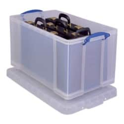 Really Useful Boxes Storage Box 84 L Clear plastic 38 x 44 x 71 cm