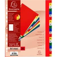 Exacompta Indices 90E A4+ Assorted Polypropylene 24.5 cm