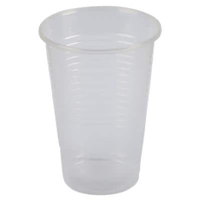 Maxima Disposable Water Cups Plastic 200ml Transparent Pack of 100