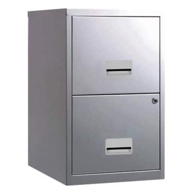 Pierre Henry 'Maxi' two drawer A4 filing cabinet - silver