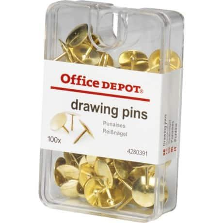 Office Depot Drawing Pins Copper Plated (100/bx)