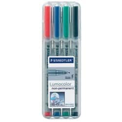 Staedtler Lumocolor OHP and CD Pens Non Permanent Fine Assorted Pack Of 4