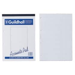 Guildhall Analysis Pads 2 Cash Columns On Each Page 298 x 210 mm