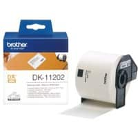 Brother Label Roll DK-11202 Black on White 62 mm x 100 mm 300 Labels