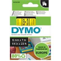 DYMO D1 Labelling Tape 43618 Black on Yellow 6 mm x 7 m
