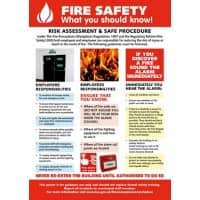 Health & Safety Poster Fire Risk PVC