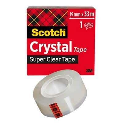 Scotch Tape Crystal Synthetic & Acrylate 19mm x 33m Transparent