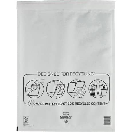 Sealed Air Mailing Bags k/7 110gsm White plain peel and seal 50 pieces