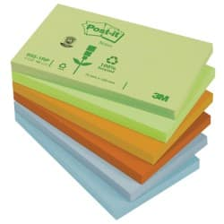 Post-it Sticky Notes 655-1RP Assorted Plain 76 x 127 mm 70gsm 12 pieces of 100 sheets