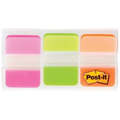 Post-it® Strong Index Tabs Pink/green/orange 25 mm 66 Tabs Per Pack